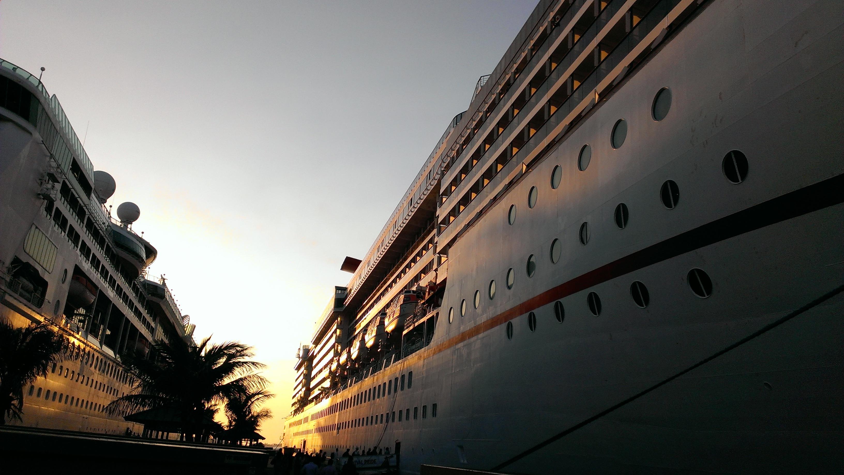 crucero, mar, viaje
