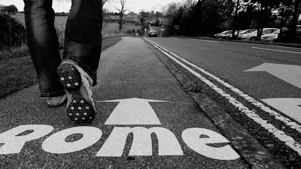 roma, carretera, pie, rome