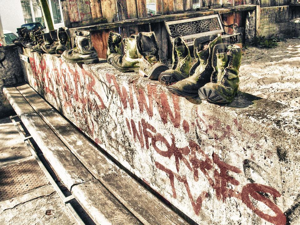 botas, berlin, muro
