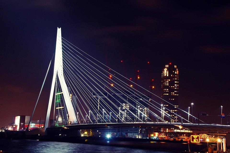 rotterdam, puente, erasmus