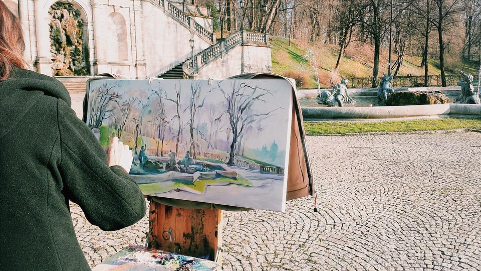 viena, pintor, fuente